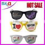 plastic party sunglasses Heart-Shaped Novelty pinhole Sunglasses                                                                         Quality Choice