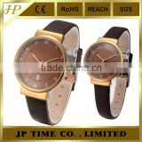mixed four color leather strap rose gold watches shenzhen watch factory offer Japan quartz movt