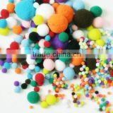 China factory supply beautiful multi colors polypropylene pom poms for party or wedding decoration                                                                         Quality Choice