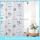 Children's cartoon bath PEVA shower curtain for home bathroom