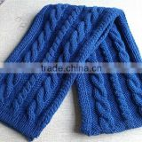 Very Popular Cable Knitted Chunky Winter Scarf for Men and Women