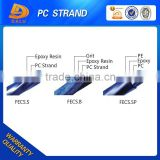 7 wire blue coated PE coated strand 12.7mm 15.24mm unbonded pc strand wire