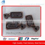 CD5717 Custom Copper Plating Metal Label Plates for Jeans, Bags