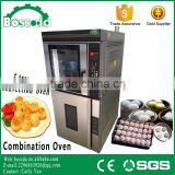 BOSSDA High quality Best price 5trays electric convection oven combine with 16 trays proofer