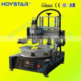 1 color 4 station screen printing rotary table screen printing machine semi/automatic type