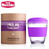 Mochic new design 8oz tritan silicone starbucks tumbler with lids / BPA free tea tumbler reusable coffee cup custom mugs