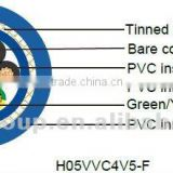 H05VVC4V5-F PVC Flexible Cable for Machinery Installation and Connections