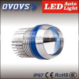 Ovovs led headlight flash/driving light for motorcycle with red, green,blue,white ring
