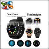 Factory directly sell!OEM MTK2502 heart rate monitor G3 smart watch
