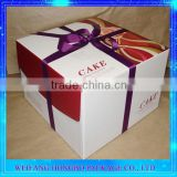 Ribbon Cake/Gift Cardboard Cylinder Packaging Box With ISO FDA