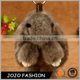 New Fashion Lovely Bunny Soft Rabbit Fur Pom Pom Bag Charm Keychain