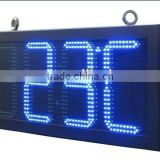 "16inches Outdoor LED clock display/12inch 88:88C/F 12"" 88:88 red outdoor led temperature display"