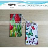 heat transfer printing Microfiber Pouch with single drawstring for eyeglass/phone/camera