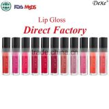 cosmetic factory best price wholeday waterproof tear-off style Color Lipsticks DEXE Lip Gloss matte