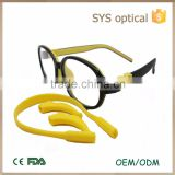 New design dual color clip on kids glasses ,and dismountable temple children optical frame