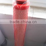 Industrial water pleated filter cartridge DLMFF-10-40-GF-V-T with plastic media diamond net