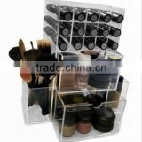 2015 new style hot saleDirect Sale Transparant Acrylic Makeup Organizer Manufacturers custom-made Storage display box