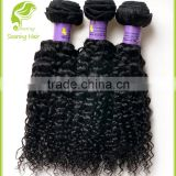 Wholesale Weaving Hair and Beauty Supplies mongolian kinky curly hair weave natural black