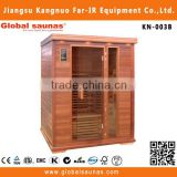Far infrared total portable sauna with safe heater parts KN-003B