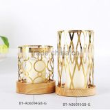 Wholesales High Quality Golden Metal Craft,Latest Design Candle Stickers                                                                         Quality Choice