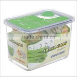 88oz Rectangle Plastic food container with vent on the lid
