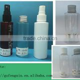 personal care screen printing 2oz 60ml pet plastic bottle with aluminium cap for skin care liquid water use