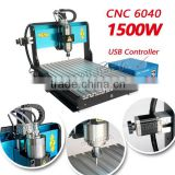 2014 new USB desktop cnc router machine with 4 axis 6040 1500W