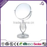 Brand new metal standing decorative swivel hand mirror vanity tabletop metal asian mirrors