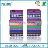 Chinese Style Fashion Light Fabric Wallet Leather Phone Case For Alcatel One Touch POP C7 with PVC ID and credit card slots