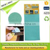 Quick drying polishing glass cloth 65x40 green microfiber custom logo printed guitar cleaning cloth