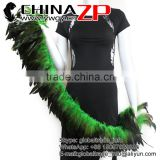 CHINAZP Wholesale Saddle Grizzly Colored Kelly Green Half Bronze Rooster Schlappen Feathers Strung for Sale