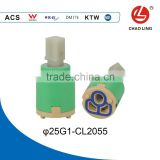25mm Double-seal Flat Base Faucet Ceramic Mixer Cartridge