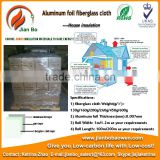 Aluminum foil fiberglass cloth for flooring insulation of underfloor heating systems and hidden wall heating systems