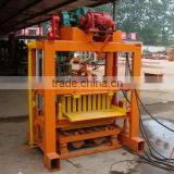 QT4-40 hydrauic press automatic concrete hollow and paver brick  machine with diesel engine