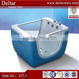 Blue color standing baby bath tub ,baby folding bathtub,small bathtub with bubble bath