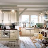 Morden MDF with high glossy white kitchen cabinet for home or hotel furniture manufacturing