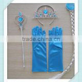 2015 hot sale Crown Princess Elsa Anna Cosplay Crown Tiara Hair Accessories Crown Wig Magic Wand Set Elsa Hair Accessories