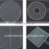 Hot sale!!! Cast iron grill grate mesh/ 304 stainless steel crimped mesh/ barbecue wire mesh