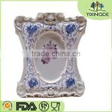 Europe type resin frame American pastoral phase of blue and white porcelain frame