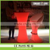 Epoxy Resin design 40cm fancy plastic cube chair garden led ball light