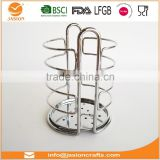 WI2910 D11CM Square Chrome Metal Wire Utensils holder