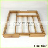 Kitchen cutlery tray for tableware utensil organizer Homex BSCI/Factory