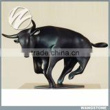 Outdoor 2 meters heigh bull statue brass animal sculpture