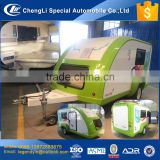 CLW 2017 new type beautiful mini small travel trailer with a sleeping bed luggage box closet bedside cabinet TV audio equipment