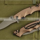 OEM brown color handle folding blade stainless pakistan folding knife