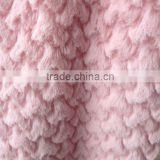 2015 Heart-shaped embossing PV plush hair fabric