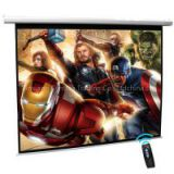 Cynthia Remote Control HD Matte White Fabric Automatic Motorized Projector Screen With Motor (100 Inch)