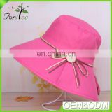 New fashion hats wholesale china design girls ladies beach bucket sun wide brim hat