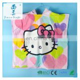 Hello Kitty printed Children Beach Towel Children Hooded Boys Cartoon Baby Girl Bath Towel Blanket Absorbent