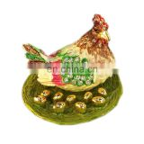 fashion wholesale Hen jewelry box / trinket box